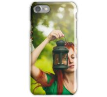 Beautiful red hair girl with deep green eyes  iPhone Case/Skin