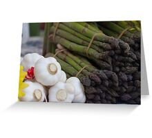 asparagus and onions Greeting Card