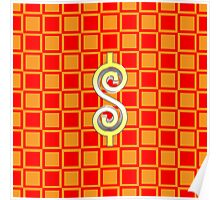 Dollar Sign Checkerboard Poster