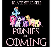 Ponies Are Coming  Photographic Print