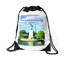 Where in the world are we? Drawstring Bag