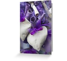 lavender hearts Greeting Card