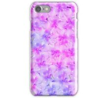 Modern hand painted pink watercolor floral iPhone Case/Skin