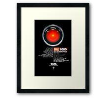 2001: A Space Odyssey (HAL 9000) Framed Print