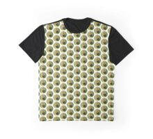 Bright Caterpillar Against Green Graphic T-Shirt