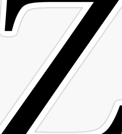 plain black z // zeta Sticker