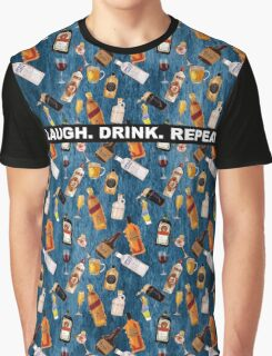 LAUGH. DRINK. REPEAT Graphic T-Shirt