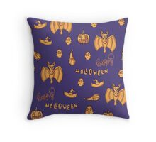 Happy Halloween lovely pumpkin! Throw Pillow