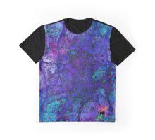 Blue Splatagram Graphic T-Shirt