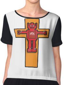 Robot Cruxifiction Chiffon Top
