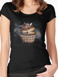 Exterminate All Cupcakes Women's Fitted Scoop T-Shirt