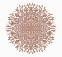 Rose Gold Beige Mandala One Piece - Short Sleeve