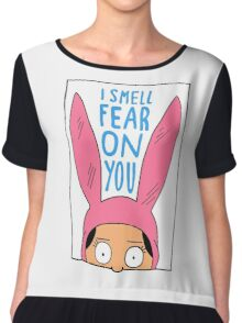 I Smell Fear on You Chiffon Top