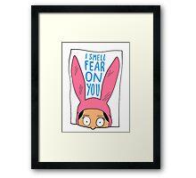 I Smell Fear on You Framed Print