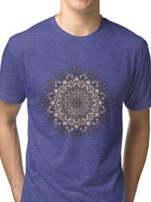 Black Beige Mandala  Tri-blend T-Shirt