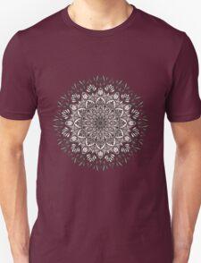 Black Beige Mandala  Unisex T-Shirt