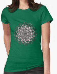 Black Beige Mandala  Womens Fitted T-Shirt