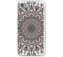 Black Beige Mandala  iPhone Case/Skin