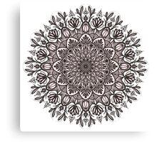 Black Beige Mandala  Canvas Print