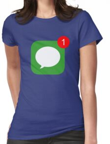 1 Unread Message (Phone Icon) Womens Fitted T-Shirt
