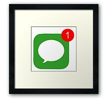 1 Unread Message (Phone Icon) Framed Print