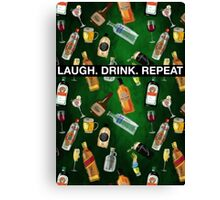LAUGH. DRINK. REPEAT Canvas Print