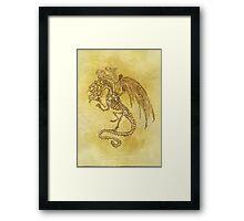 5x Dragon Framed Print