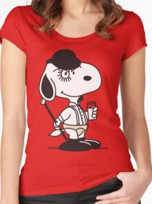 Snoopy DeLarge (A Clockwork Beagle) Women's Fitted Scoop T-Shirt