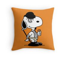 Snoopy DeLarge (A Clockwork Beagle) Throw Pillow