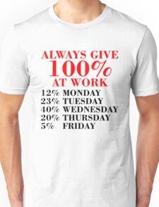 100% Percent at Work Unisex T-Shirt