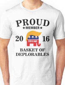 Donald Trump Proud Member Basket of Deplorables Unisex T-Shirt