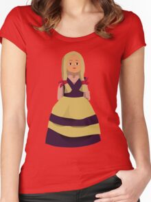 Princess Doll Girl Women's Fitted Scoop T-Shirt