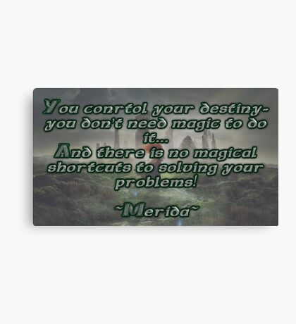 Brave Quote Canvas Print