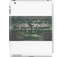 Brave Quote iPad Case/Skin