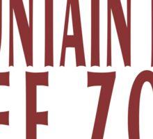 Mountain lion free zone Sticker