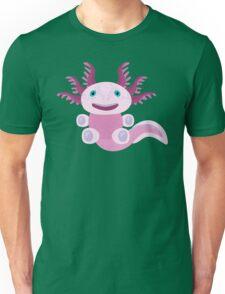 Cute Axolotl and The Bubbles Unisex T-Shirt