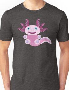 Cute Axolotl and The Bubbles Unisex T-Shirt