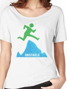 Stickman Jumping Over Obstacle Women's Relaxed Fit T-Shirt