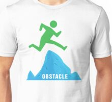 Stickman Jumping Over Obstacle Unisex T-Shirt