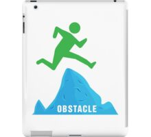 Stickman Jumping Over Obstacle iPad Case/Skin