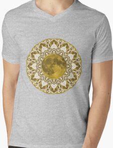 GOLD MOON MANDALA Mens V-Neck T-Shirt