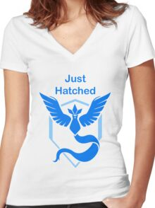 Just Hatched - Mystic Women's Fitted V-Neck T-Shirt