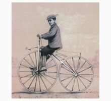 VELOCIPEDE, BIKE, PUSH BIKE, BICYCLE, Young, Velocipedist, Michaux, Velocipede, 1868 Kids Tee