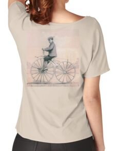 VELOCIPEDE, BIKE, PUSH BIKE, BICYCLE, Young, Velocipedist, Michaux, Velocipede, 1868 Women's Relaxed Fit T-Shirt