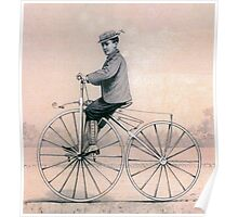 VELOCIPEDE, BIKE, PUSH BIKE, BICYCLE, Young, Velocipedist, Michaux, Velocipede, 1868 Poster