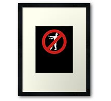No Zombies Allowed Framed Print