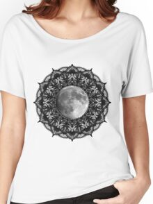 SILVER MOON MANDALA Women's Relaxed Fit T-Shirt