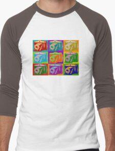 Camera Pop Art Retro Graphic Camera Photographer Design Men's Baseball ¾ T-Shirt