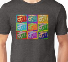 Camera Pop Art Retro Graphic Camera Photographer Design Unisex T-Shirt