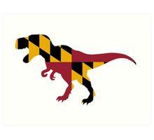 Maryland T-Rex Art Print